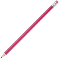Карандаш простой Hand Friend с ластиком, розовый