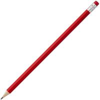 Карандаш простой Hand Friend с ластиком, красный