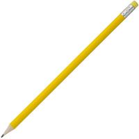 Карандаш простой Hand Friend с ластиком, желтый