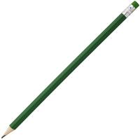 Карандаш простой Hand Friend с ластиком, зеленый