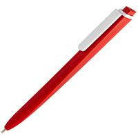 Ручка шариковая Pigra P02 Mat, красная с белым