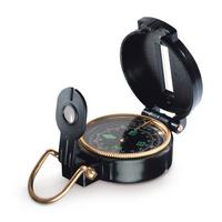 Туристический компас Azimuth, черный с золотой каймой
